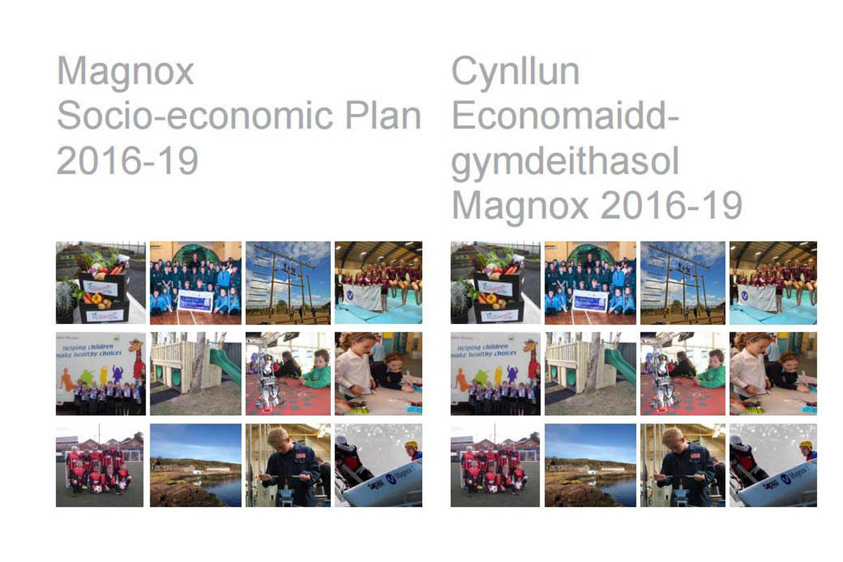 Magnox has published its Socio-economic Plan 2016-19