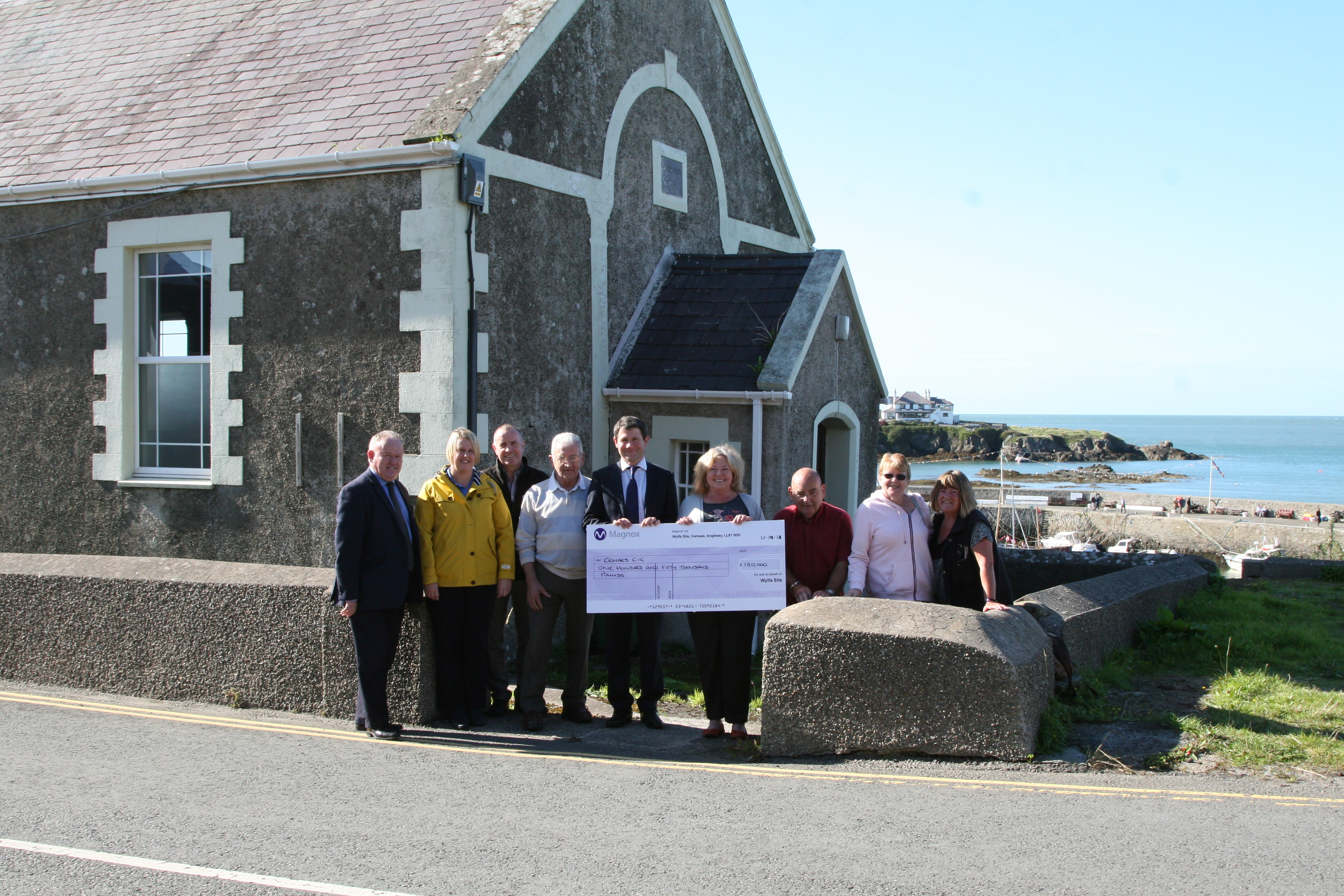 Cemaes CIC Receives £150,000 Magnox Socio-economic funding